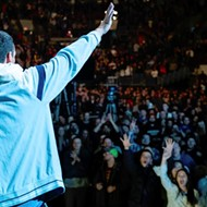 Adam Sandler swings into CFE Arena fresh off of a surprisingly good Netflix special