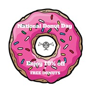 Discount vinyl and free literal doughnuts at Uncle Tony's Donut Shoppe today