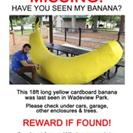Local artist SKIP asks: Have you seen my banana?