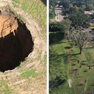 A massive Florida sinkhole that once swallowed a man has reopened