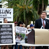 Florida bear hunt opponents gather at Orlando protest