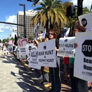 Protesters rally in last-ditch attempt to stop Florida's bear hunt