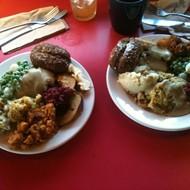 Go stuff yourself at Drunken Monkey's vegan-friendly Thanksgiving