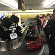 PETA protester dressed as orca arrested at Orlando airport