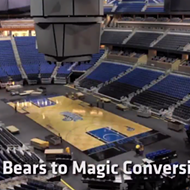Time-lapse video shows how much elbow grease goes into transitioning from Solar Bears to Orlando Magic games