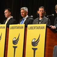 Libertarian frontrunner Gary Johnson gets boos from crowd at presidential debate