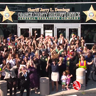 "Watch the Orange County Sheriff's Office bust a move for the ""Keep Dancing Orlando"" challenge"