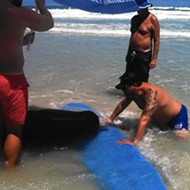 A beached sperm whale died in Ponce Inlet last weekend