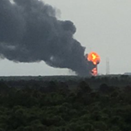 SpaceX rocket just exploded on launch pad at Cape Canaveral