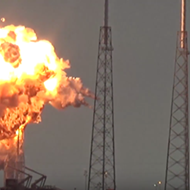 Video captures SpaceX rocket explosion in Cape Canaveral