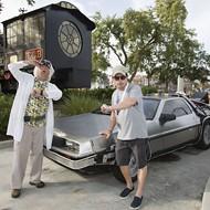 Michael J. Fox reunited with his DeLorean at Universal Studios Orlando