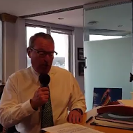 Here's Buddy Dyer recording his welcome message for the new airport People Movers