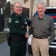 Former NRA president and convicted Iran-Contra figure Oliver North will host a fundraiser for Florida sheriff Rick Staly
