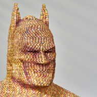 Orlando artist's Batman statue made out of nearly 2,000 Smarties is now on display at Florida airport