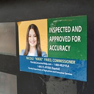 Fight refueled over Florida Ag Commissioner Nikki Fried's stickers on gas pumps