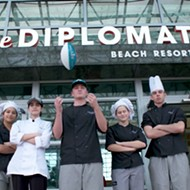 Central Florida high school students teamed up with famous chefs at the Super Bowl