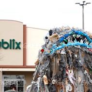 'Plastic monster' trolling Florida Publix stores to highlight the retailer's plastics problem
