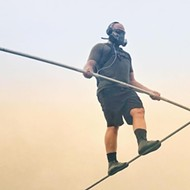 After tightrope walking across an active volcano, Nik Wallenda brings his next stunt to Legoland Florida