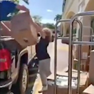 Florida woman yells 'Go Donald Trump' after buying a store's entire supply of toilet paper