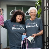 Social Distancing at 85mm: Wendy and Bernie, Metrowest