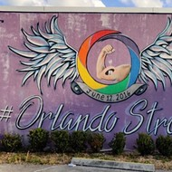 Pulse memorial mural at the LGBT+ Center Orlando vandalized with white supremacist stickers