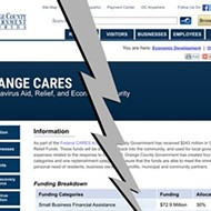 For a second day Orange County shuts down CARES Act application portal soon after opening