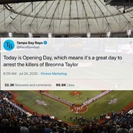 Tampa Bay Rays celebrated opening day by reminding everyone the cops who shot Breonna Taylor still haven't been arrested