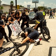 St. Pete Police actually had to remind the public that it's illegal to run over protesters with a car