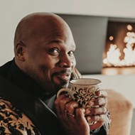 Orlando actor turned Broadway star Michael James Scott raises a cup of cheer at the Dr. Phil