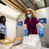 Thousands of doses of Pfizer's COVID-19 vaccine arrive in Orange County on Tuesday