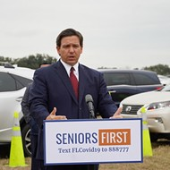 Florida Gov. Ron DeSantis announces drive-thru vaccination site at the Villages