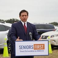 Florida Gov. Ron DeSantis announces drive-thru vaccination site at the Villages