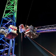 Teenagers rescued after Kissimmee slingshot ride malfunctions