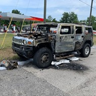 Tampa Bay gas hoarders accidentally set their Hummer on fire