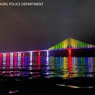 Florida reverses course on bridge Pride month light displays