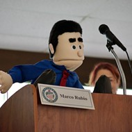 Instead of Rubio, 'Lil Marco' puppet addresses constituents at Maitland town hall