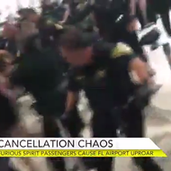 Massive brawl breaks out at Florida airport after Spirit Airlines cancels flights