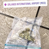 Someone lost their little baggy of weed at Orlando International Airport