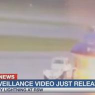 Video: Florida airport worker survives lightning strike