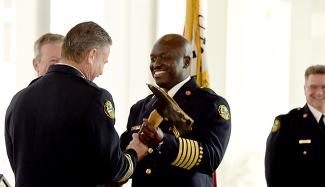 Chief Roderick Williams, right. - PHOTO VIA CITY OF ORLANDO