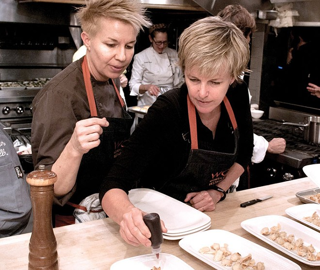 Kathleen Blake and Elizabeth Falkner