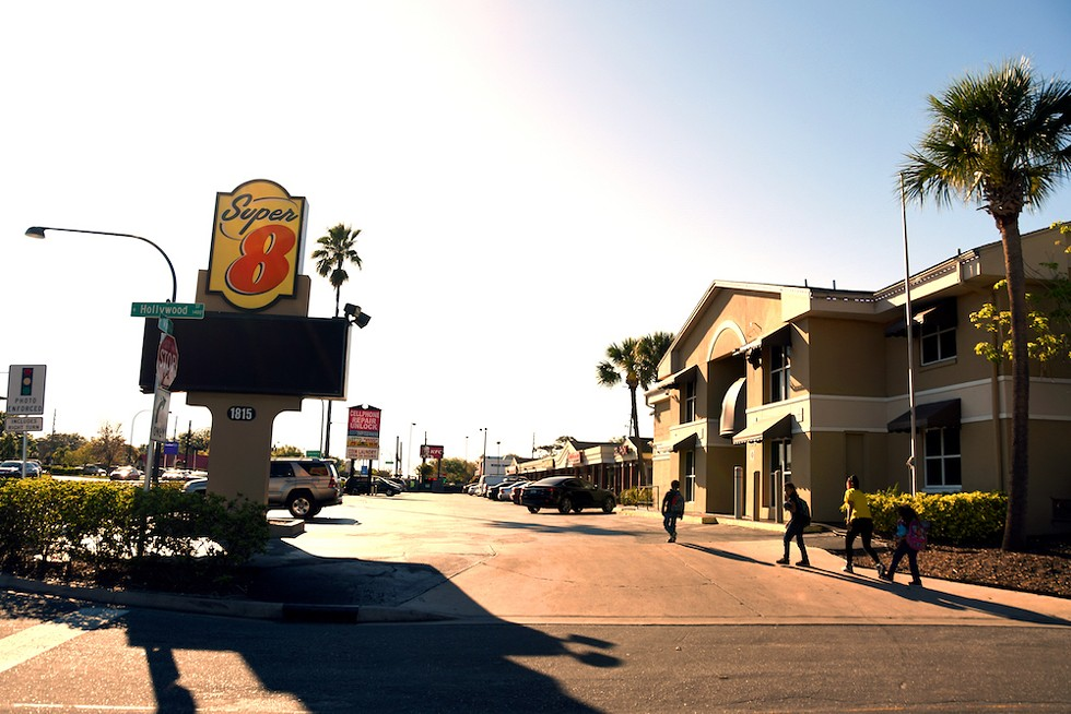 The motel that the Torres family calls home - PHOTO BY JEN CRAY