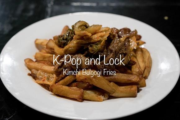Loaded fries with bulgogi, kimchi and spicy mayo - KAI ASIAN STREET FARE