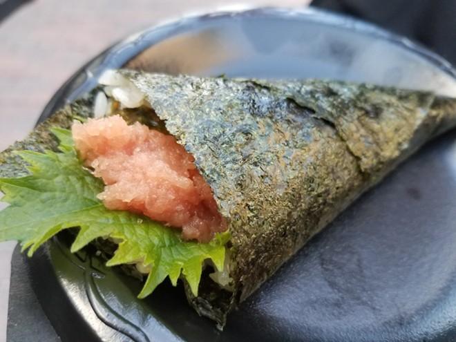 Duck fat-whipped tuna temaki (Seito Sushi) - FAIYAZ KARA