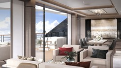Penthouse suite onboard a Ritz-Carlton Yacht Collection ship - IMAGE VIA RITZ-CARLTON