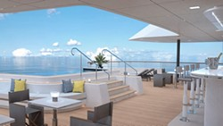 Outdoor grill and bar area onboard one of the Ritz Carlton Yacht Collection ships - IMAGE VIA RITZ-CARLTON