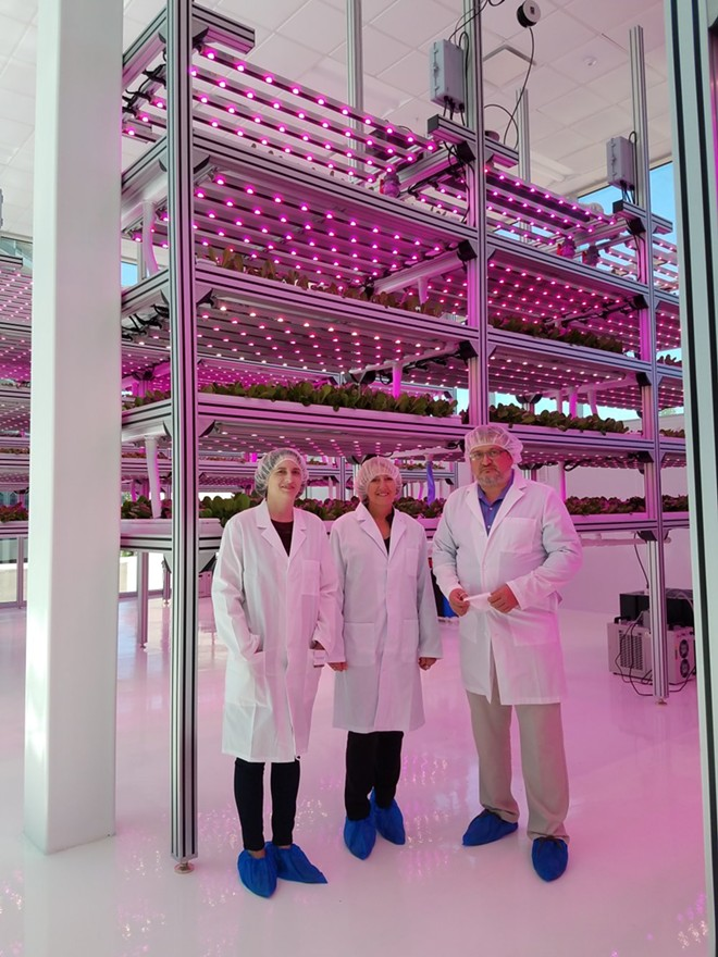Cristian Toma (R) leads a group through the HyCube™ facility - FAIYAZ KARA