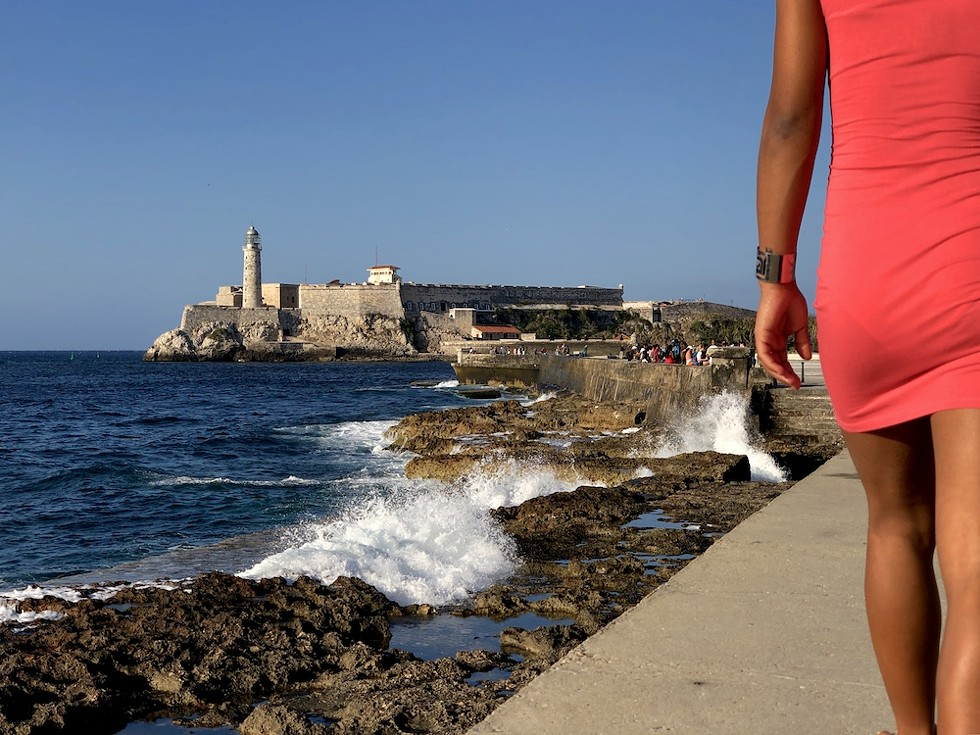 A view of Havana's seawall, El Malecón, toward El Morro fort - PHOTO BY ROB BARTLETT
