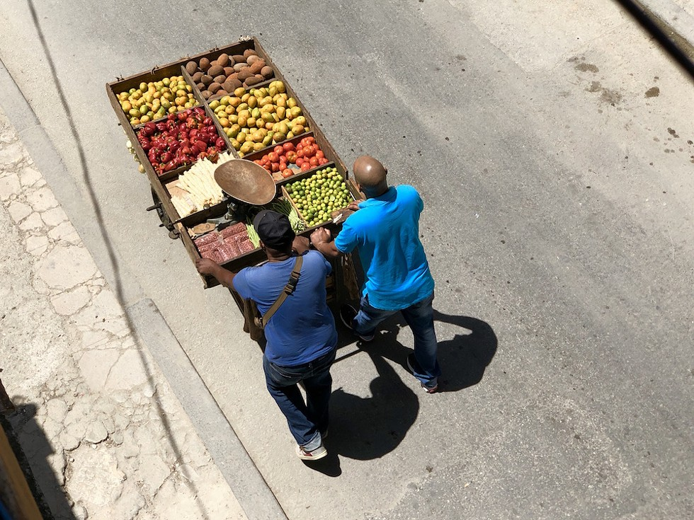 Produce vendors in Old Havana - PHOTO BY ROB BARTLETT