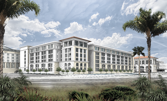 The Gaylord Palms expansion will include a new multi-level parking structure - IMAGE VIA RYMAN HOSPITALITY PROPERTIES